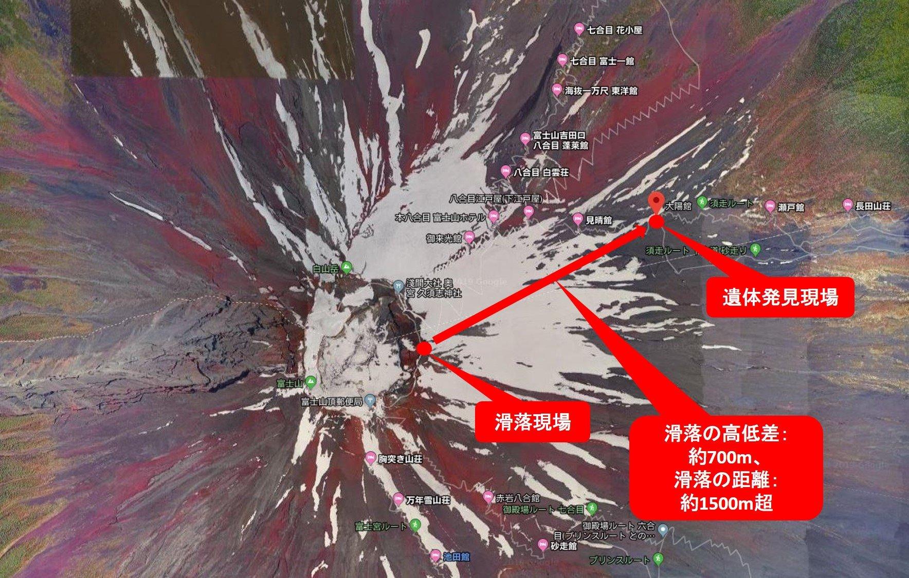 富士山 か つらく 事故 遺体